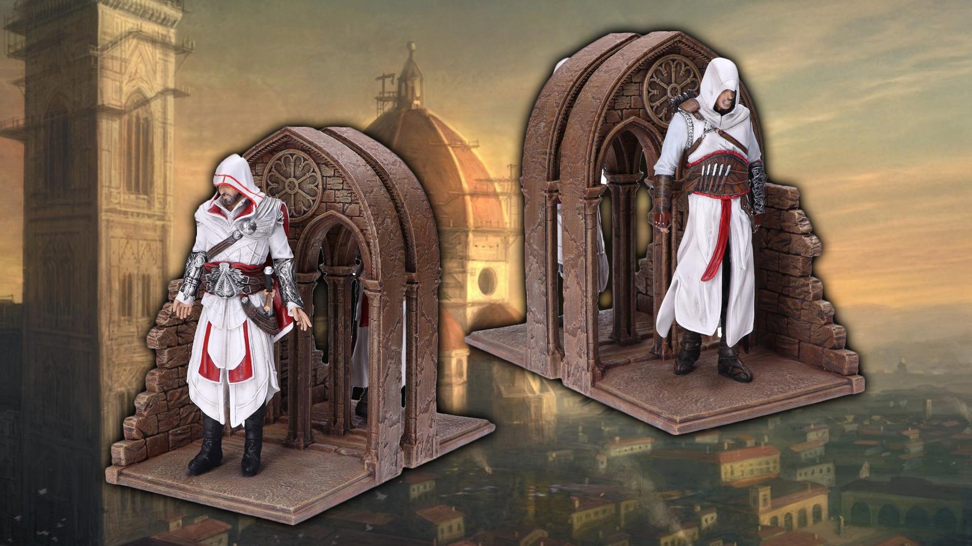 In prenotazione i fermalibri di Assissin's Creed con Ezio e Altair